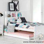 Tempat Tidur Anak Sorong Duco Putih