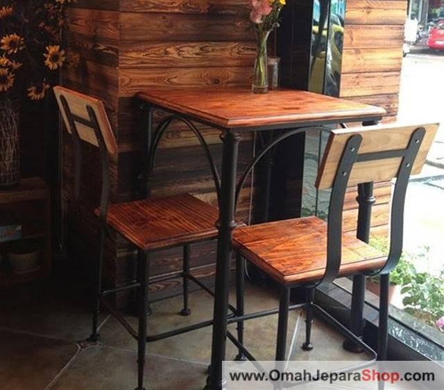 Set Kursi Cafe Besi Kayu Jati Jual Kursi Cafe Besi Modern