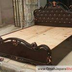 Tempat Tidur Mewah Jati Cat Coklat