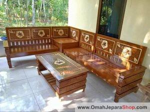 Kursi Tamu Jati Minimalis di Jombang