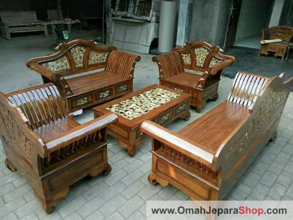 Set Kursi Tamu Madura Keong Jati
