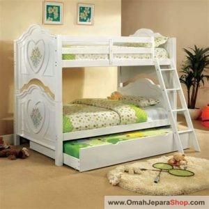 Ranjang Tempat Tidur Anak Putih Cantik