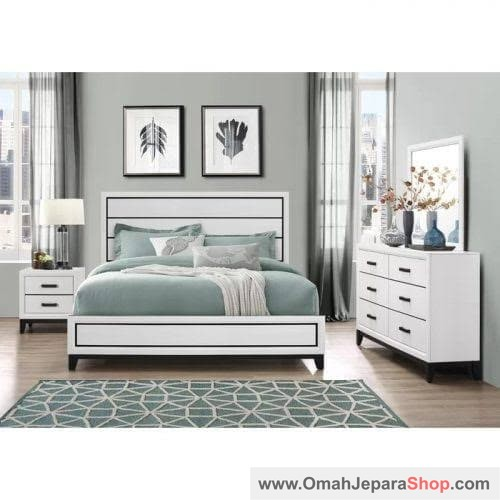 Set Kamar Tidur Putih Jewison